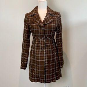 NWT Susina Plaid Coat